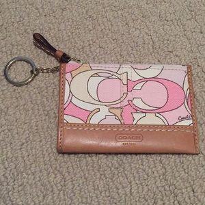 Coach change purse/key ring